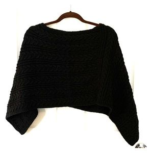 LOFT Black Shawl Sweater